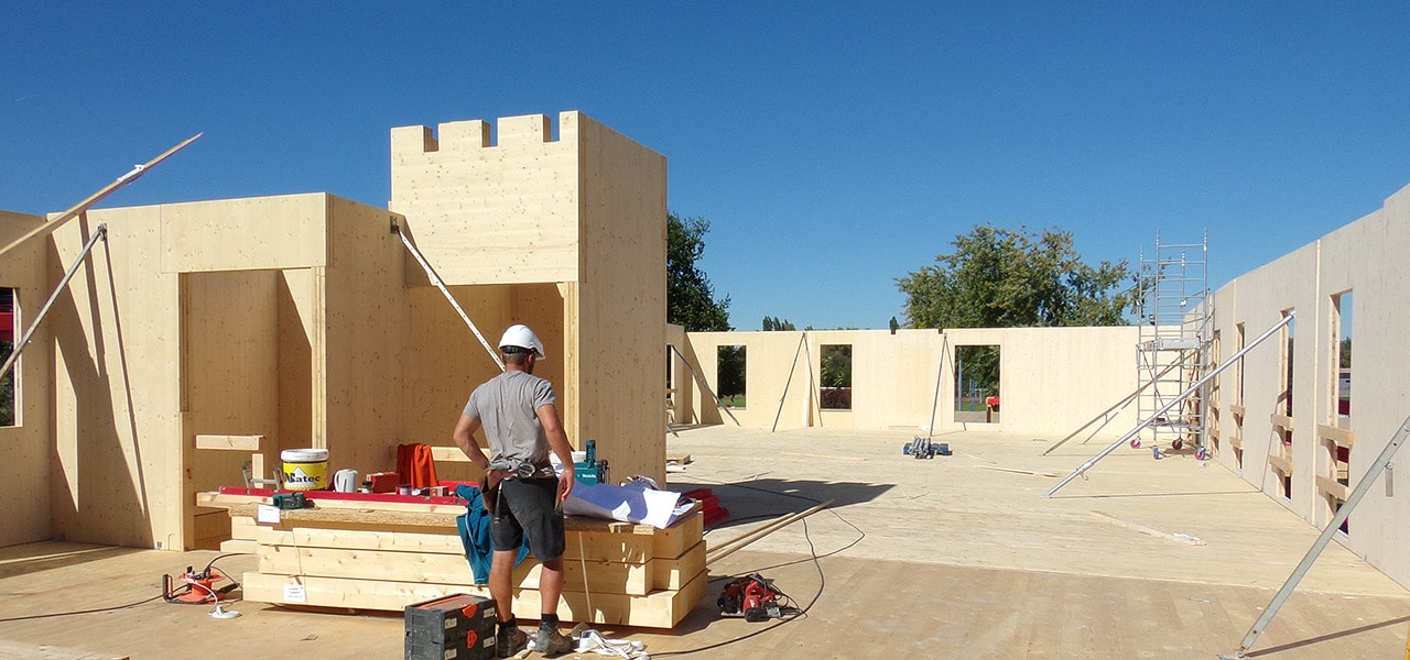 LCA construction bois lamellé-croisé CLT