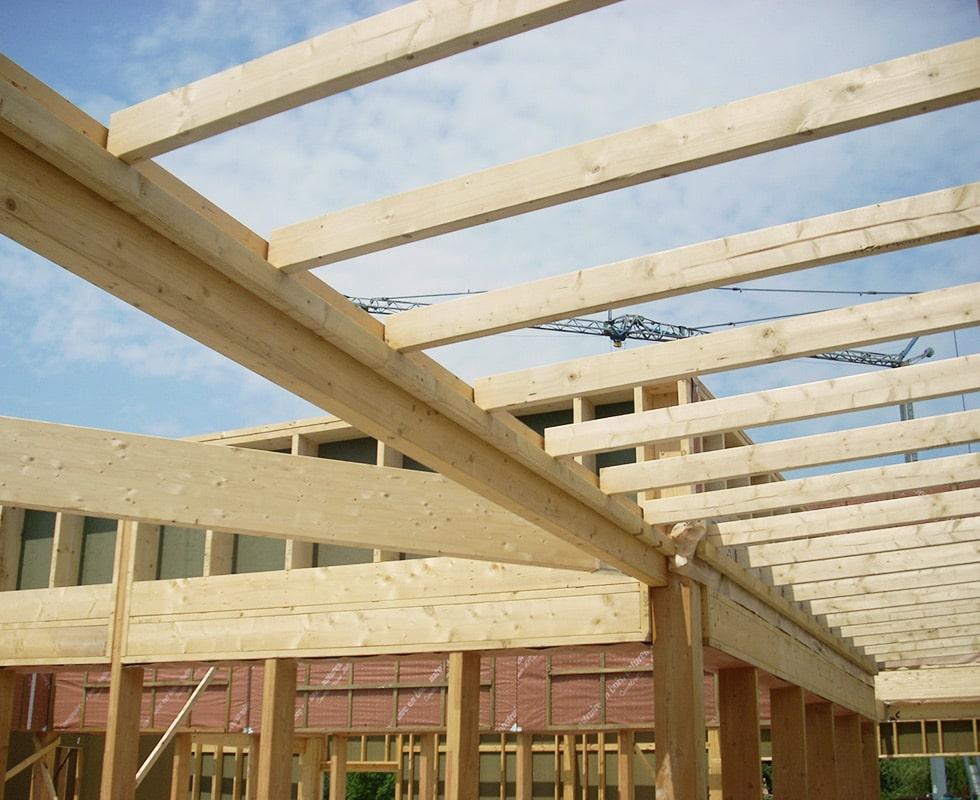 Charpente bois pour toit plat