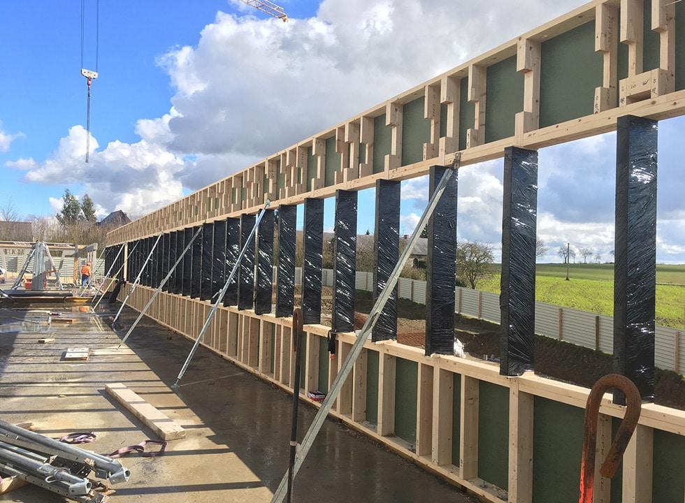 Des murs en ossature bois pour votre bâtiment professionnel - LCA