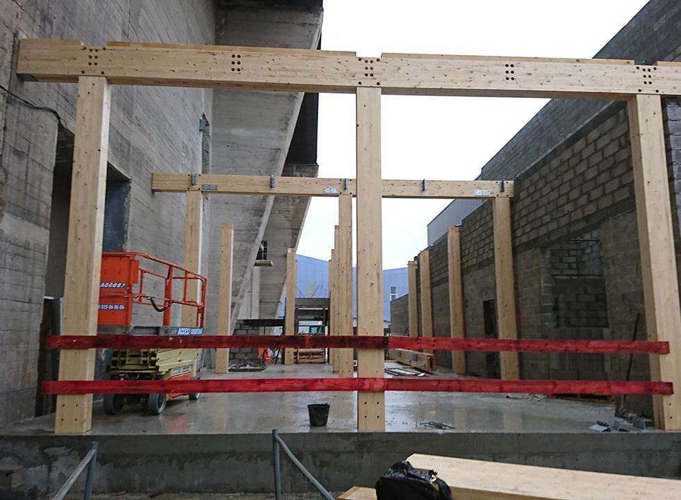 Le poteau-poutre, un sytème constructif bois solide