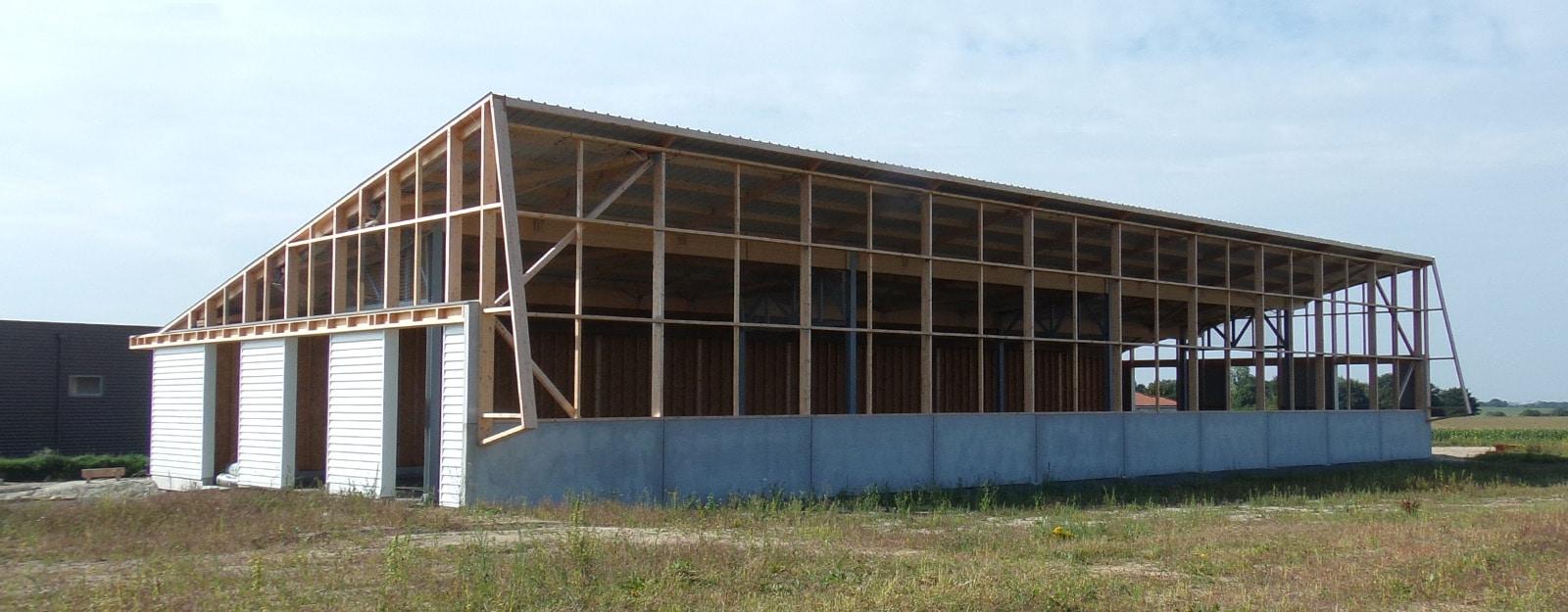 LCA construction, le sytème poteau-poutre