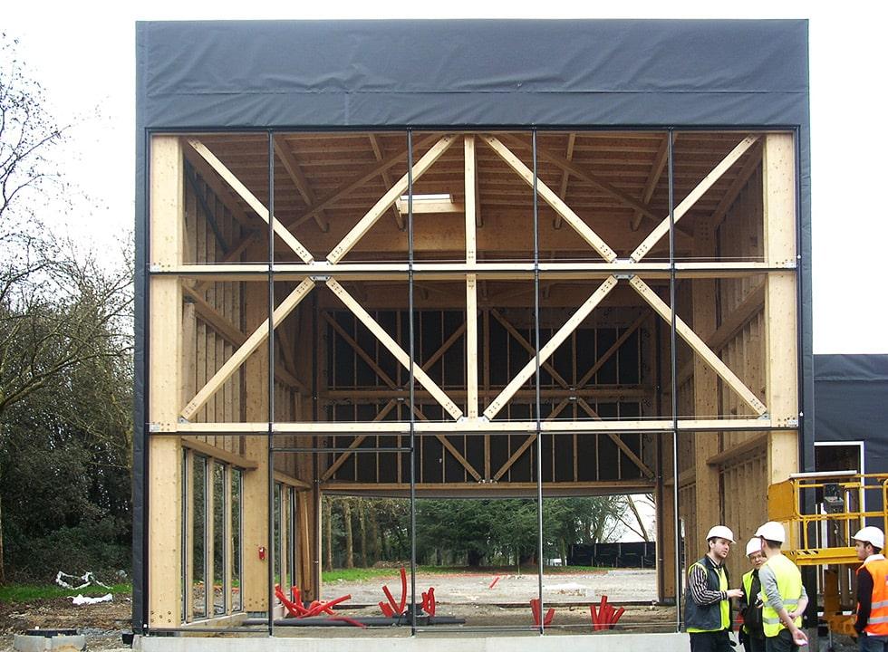 Un système constructif bois esthétique : le poteau-poutre
